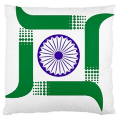Seal Of Indian State Of Jharkhand Large Flano Cushion Case (two Sides) by abbeyz71