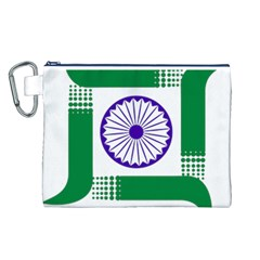 Seal Of Indian State Of Jharkhand Canvas Cosmetic Bag (l) by abbeyz71
