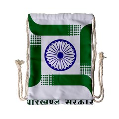 Seal Of Indian State Of Jharkhand Drawstring Bag (small) by abbeyz71