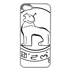 Seal Of Indian State Of Manipur Apple Iphone 5 Case (silver) by abbeyz71