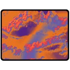 Sky Pattern Fleece Blanket (large)  by Valentinaart