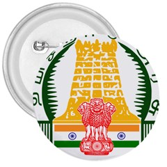 Seal Of Indian State Of Tamil Nadu  3  Buttons by abbeyz71