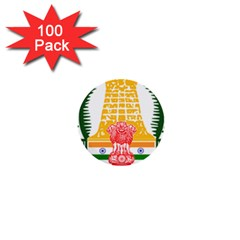 Seal Of Indian State Of Tamil Nadu  1  Mini Buttons (100 Pack)  by abbeyz71