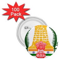 Seal Of Indian State Of Tamil Nadu  1 75  Buttons (100 Pack)  by abbeyz71