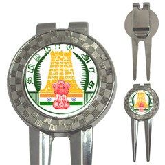 Seal Of Indian State Of Tamil Nadu  3 In 1 Golf Divots by abbeyz71