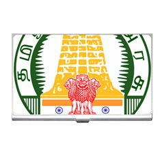 Seal Of Indian State Of Tamil Nadu  Business Card Holders by abbeyz71