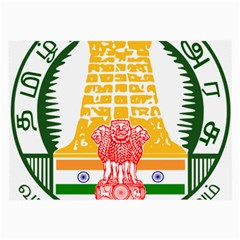 Seal Of Indian State Of Tamil Nadu  Large Glasses Cloth (2 Side) by abbeyz71