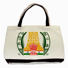 Seal Of Indian State Of Tamil Nadu  Basic Tote Bag (two Sides) by abbeyz71