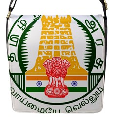 Seal Of Indian State Of Tamil Nadu  Flap Messenger Bag (s) by abbeyz71