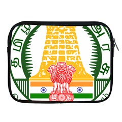 Seal Of Indian State Of Tamil Nadu  Apple Ipad 2/3/4 Zipper Cases by abbeyz71