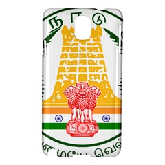 Seal Of Indian State Of Tamil Nadu  Samsung Galaxy Note 3 N9005 Hardshell Case by abbeyz71
