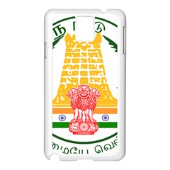 Seal of Indian State of Tamil Nadu  Samsung Galaxy Note 3 N9005 Case (White)