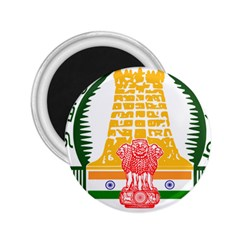 Seal Of Indian State Of Tamil Nadu  2 25  Magnets by abbeyz71