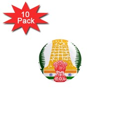 Seal Of Indian State Of Tamil Nadu  1  Mini Magnet (10 Pack)  by abbeyz71