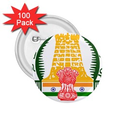 Seal Of Indian State Of Tamil Nadu  2 25  Buttons (100 Pack)  by abbeyz71