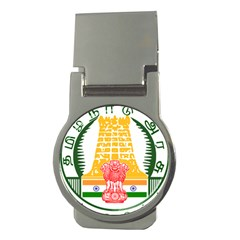 Seal Of Indian State Of Tamil Nadu  Money Clips (round)  by abbeyz71
