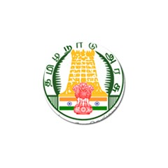 Seal Of Indian State Of Tamil Nadu  Golf Ball Marker by abbeyz71