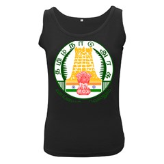 Seal of Indian State of Tamil Nadu  Women s Black Tank Top by abbeyz71