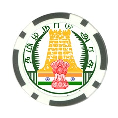 Seal Of Indian State Of Tamil Nadu  Poker Chip Card Guard by abbeyz71