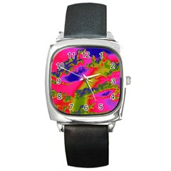 Sky Pattern Square Metal Watch by Valentinaart