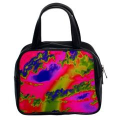 Sky Pattern Classic Handbags (2 Sides) by Valentinaart