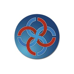 Svadebnik Symbol Slave Patterns Magnet 3  (round) by Nexatart