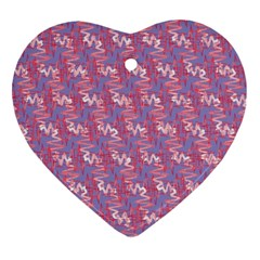 Pattern Abstract Squiggles Gliftex Ornament (heart) by Nexatart