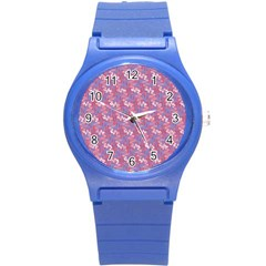 Pattern Abstract Squiggles Gliftex Round Plastic Sport Watch (s) by Nexatart
