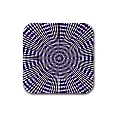 Pattern Stripes Background Rubber Square Coaster (4 Pack)  by Nexatart