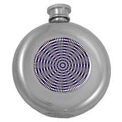Pattern Stripes Background Round Hip Flask (5 Oz) by Nexatart