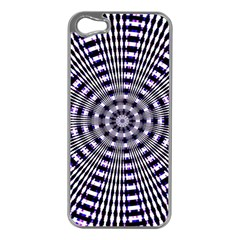 Pattern Stripes Background Apple Iphone 5 Case (silver) by Nexatart