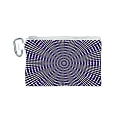 Pattern Stripes Background Canvas Cosmetic Bag (s) by Nexatart