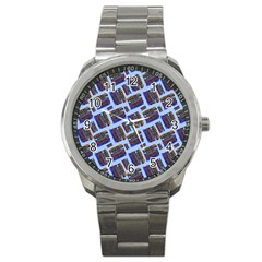Abstract Pattern Seamless Artwork Sport Metal Watch by Nexatart