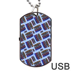 Abstract Pattern Seamless Artwork Dog Tag USB Flash (Two Sides)
