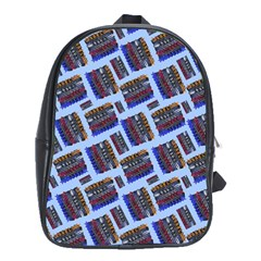 Abstract Pattern Seamless Artwork School Bags (xl)  by Nexatart