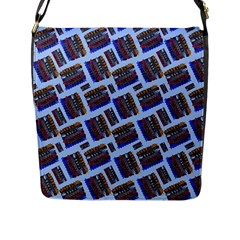 Abstract Pattern Seamless Artwork Flap Messenger Bag (l)  by Nexatart