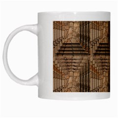Collage Stone Wall Texture White Mugs