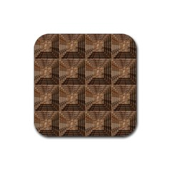 Collage Stone Wall Texture Rubber Square Coaster (4 Pack)  by Nexatart