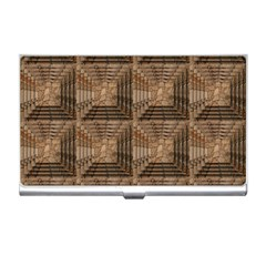 Collage Stone Wall Texture Business Card Holders by Nexatart