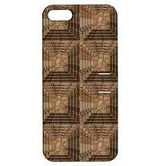Collage Stone Wall Texture Apple Iphone 5 Hardshell Case With Stand by Nexatart