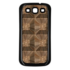 Collage Stone Wall Texture Samsung Galaxy S3 Back Case (black) by Nexatart