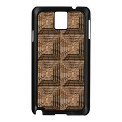 Collage Stone Wall Texture Samsung Galaxy Note 3 N9005 Case (black) by Nexatart