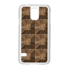 Collage Stone Wall Texture Samsung Galaxy S5 Case (white)