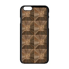 Collage Stone Wall Texture Apple Iphone 6/6s Black Enamel Case