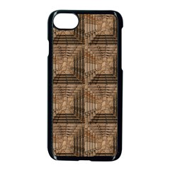 Collage Stone Wall Texture Apple Iphone 7 Seamless Case (black) by Nexatart