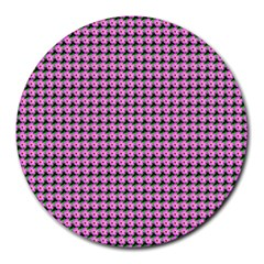 Pattern Grid Background Round Mousepads
