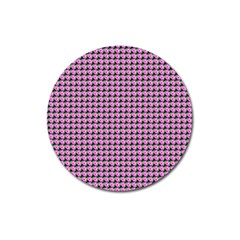 Pattern Grid Background Magnet 3  (round)