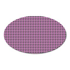 Pattern Grid Background Oval Magnet by Nexatart