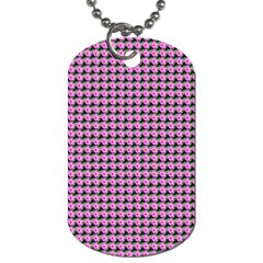Pattern Grid Background Dog Tag (two Sides) by Nexatart