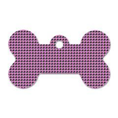 Pattern Grid Background Dog Tag Bone (two Sides) by Nexatart